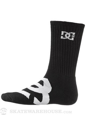 DC Willis Crew Socks Black SM/MD