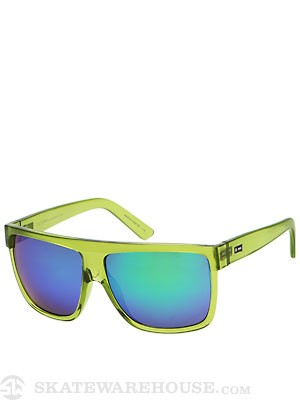 Dot Dash Shabazz Lime Trans/Green Chrome Lens
