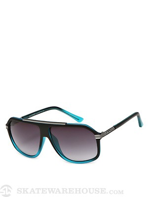 Dot Dash Staghorn Black Blue Satin/Gradient Lens