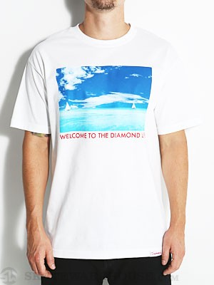 Diamond Caribbean Tee White SM