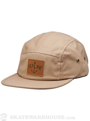 Dekline 5 Panel Hat Khaki Adjust
