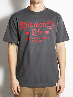 Diamond Gang Tee Charcoal LG