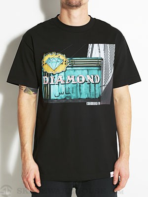 Diamond Neon Tee Black MD
