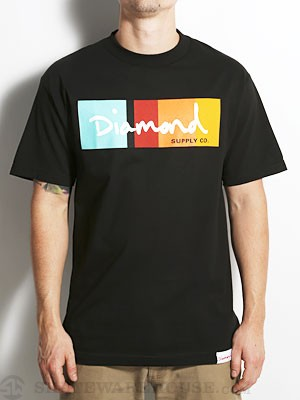 Diamond OG Script Colors Tee Black MD