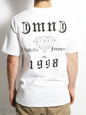 Diamond Skate Life Tee White MD