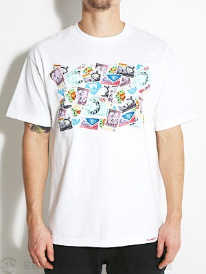 Diamond Stamps Tee White SM