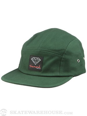 Diamond OG Sign 5 Panel Hat Green Adjust