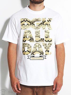 DGK All Day Snake Tee White MD