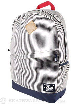 DGK Angle Deluxe Backpack Navy Hickory Stripe