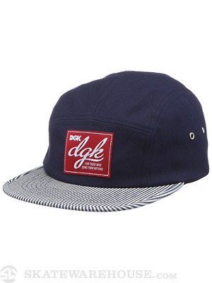 DGK Big League 5 Panel Hat Navy Adjust