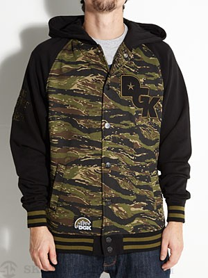 DGK Big League Varsity Jacket Tiger Camo MD