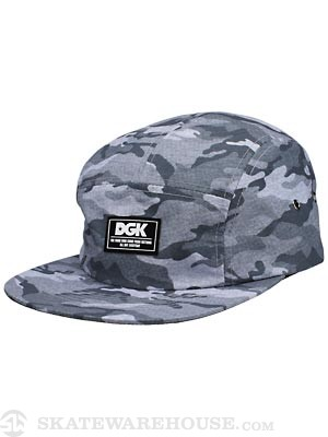 DGK Covert 5 Panel Hat Grey Adj.