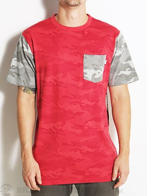 DGK Covert Custom Pocket S/S Shirt Red SM