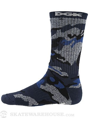 DGK Covert Crew Socks Single Pair Blue