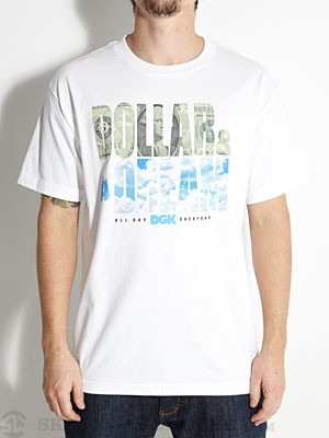 DGK Dollar & A Dream Tee White LG