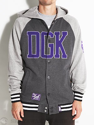 DGK Dugout Hooded Fleece Grey LG