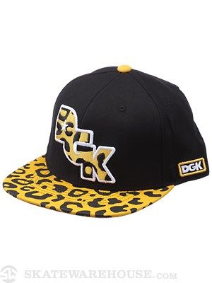DGK Fast Life Snapback Hat Orange Adjust