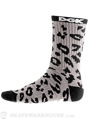 DGK Fast Life Socks Grey/Black