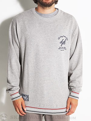 DGK Global Crew Sweatshirt Athletic Heather MD