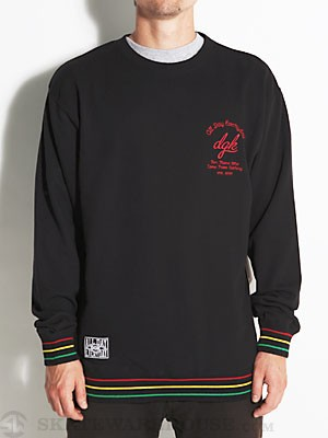 DGK Global Crew Sweatshirt Black LG