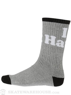 DGK Haters Crew Socks Athletic/Black/White