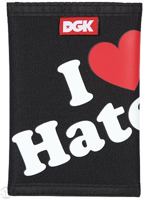 DGK Haters Tri-Fold Wallet Black