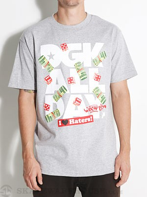 DGK Head Cracks Tee Athletic Heather SM