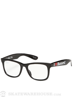 DGK Haters Sunglasses  Black/Clear Lens