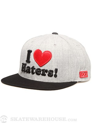 DGK Haters Snapback Hat Ath. Heather/Black/Red