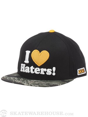 DGK Haters Snapback Hat Army/Lemon Adjust