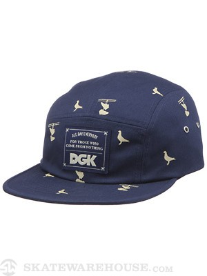 DGK Iconic 5 Panel Hat Navy Adjust