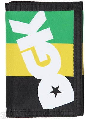 DGK Int'ly Known Tri-Fold Wallet Green/Yellow