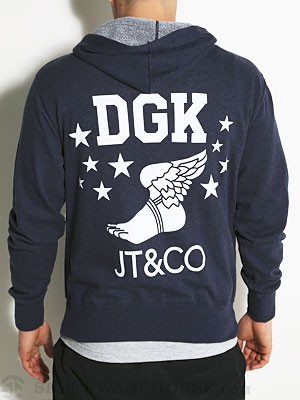 DGK x JT&CO Infinity Hoodzip Heather Navy SM
