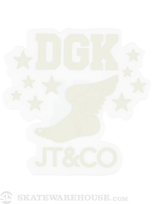 DGK Infinity JT&CO Sticker White