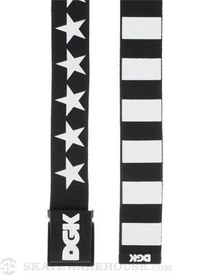 DGK Justice Scout Belt Black/White Adjustable