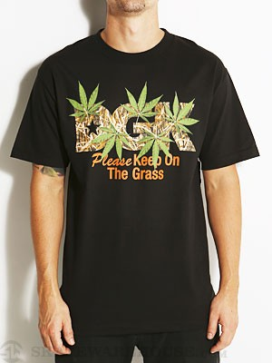 DGK Keep On The Grass Tee Black SM
