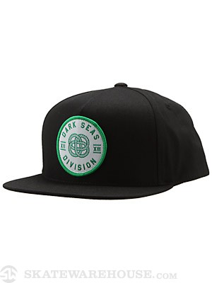 Dark Seas Monkey Fist Snapback Hat Black Adjust