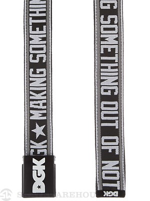 DGK Making Something Scout Belt Black Adjustable