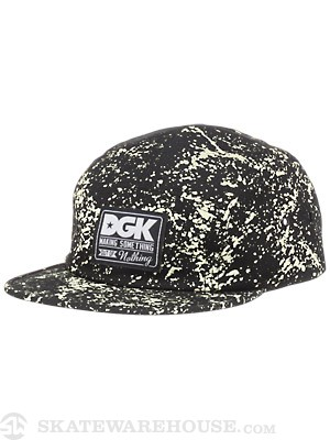 DGK Making Something 5 Panel Hat Blk/Bleach