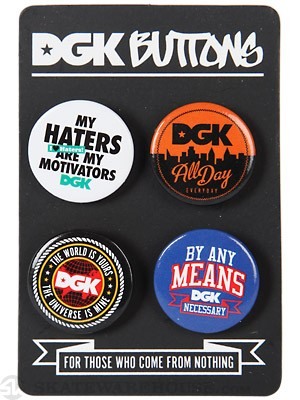 DGK Button 4-Pack  Mix Up