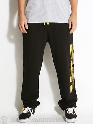 DGK Movement Fleece Pants Black/Yellow SM