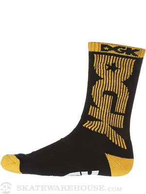 DGK Movement Crew Socks Black/Yellow