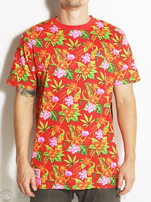 DGK Permanent Vacation Custom S/S Tee Red SM