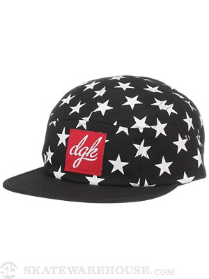 DGK Shooter 5 Panel Hat Black Adj.