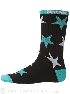 DGK Shooter Crew Socks Black/Teal