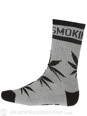 DGK Stay Smokin' Crew Socks Athletic Heather/Black