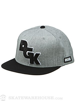 DGK Stagger Snapback Hat Ath. Heather/Black
