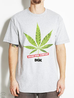 DGK Smoke Weed Everyday Tee Athletic Heather LG