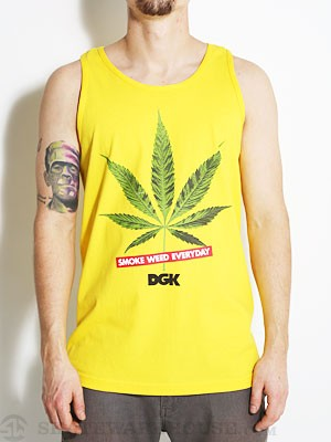 DGK Smoke Weed Every Day Tank Top Yellow SM