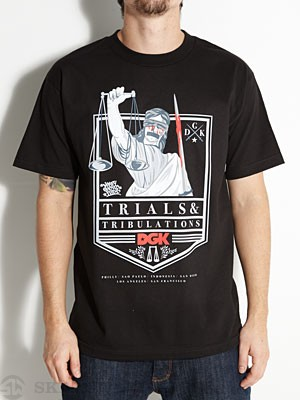 DGK Trials & Tribulations Tee Black MD